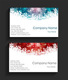 Company Christmas Business Card Vector Illustration