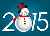 New Year 2015. Christmas Background Vector Illustration