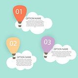 Retro Infographic with Air Balloons Vector Illustration