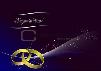 Greeting card for wedding or Valentine Day with place for text