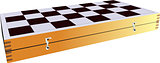 Chessboard without chess piece. Vector illustration.
