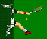 Tennis poster. Colored Vector illustration for designers