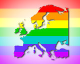 Europe - Rainbow flag pattern