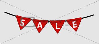 Flag Sale Labels  . Vector Illustration