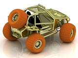 Front side radio-controlled model buggy