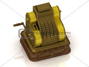 Old golden cash register