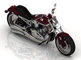 Motorcycle and chrome engine