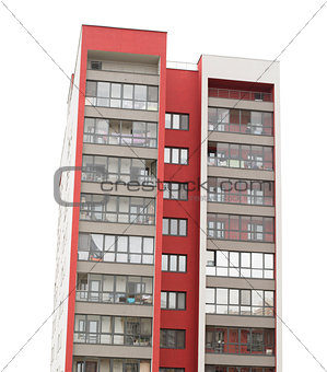 Apartment block building