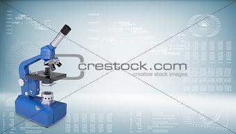 Blue chemistry microscope