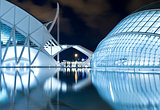 The City of arts and sciences at night, Valencia, Spain
