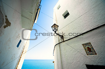 Architecture in Peniscola. Valencia, Spain