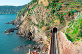 View of Vernazza railway, Italy