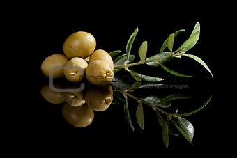 Olives background.