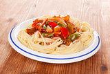 Delicious vegetarian pasta.