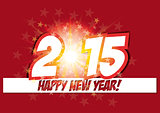 symbols of battery levelHappy new year card 2015