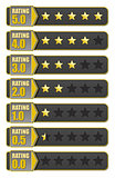 Rating stars badges