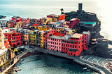 Aerial view of Vernazza