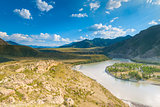 desert valley of the Altai Mountains