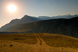 Plateau Altai region in the early morning