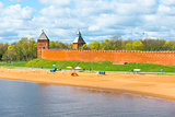 beach town near the Kremlin in Veliky Novgorod
