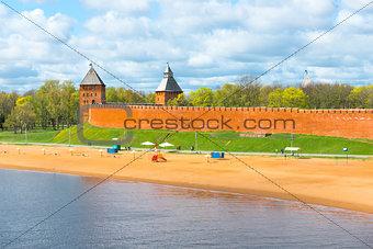 beach town near the Kremlin in Veliky Novgorod
