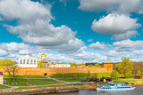 view of the Novgorod Kremlin on a sunny afternoon