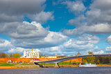 beautiful view of the churches of Novgorod Kremlin