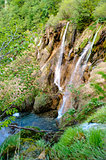 Beautiful waterfall. Plitvice Lakes National Park in Croatia