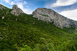 Scenic mountain landscape. Paklenica National Park in Croatia