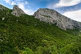 Scenic mountain landscape. Paklenica National Park in Croatia