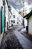 Street in old town in Tallinn, Estonia