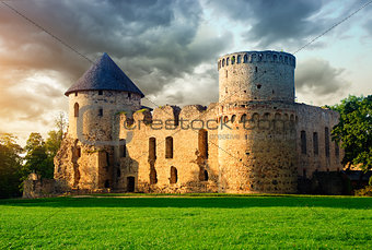 Old castle in Cesis, Latvia