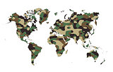 World - Army camo pattern
