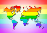 World - Rainbow flag pattern