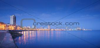 Cuba, Caribbean Sea, la habana, havana, skyline at night