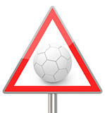 the soccer ball sign