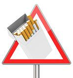 the cigarette box
