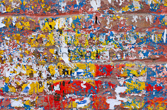 old colorful asian wall background and texture
