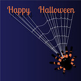 Halloween greeting card with space for text