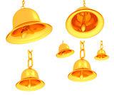Gold bell set