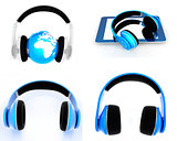 Phone and headphones set