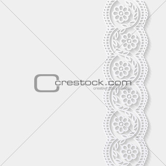 Abstract background with paper floral pattern