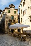 Outdoor cafe in old town, Split, Croatia