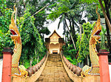 Buddhist temple named Wat Doi Ngam Muang in Chiangrai province o