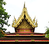 Buddhist temple named Wat Phra Kaew in Chiangrai province of Tha