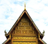 The front of roof Thailand's temple.