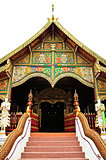 Buddhist temple named Wat Ming Muang in Chiangrai province of Th