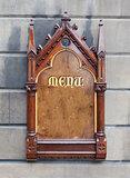 Decorative wooden sign - Menu