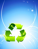 Recycle Symbol on Abstract Light Background