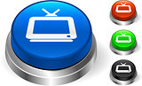Television Icon on Internet Button
